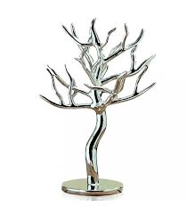 jewellery holder silver jewellery tree synthetic resin wadiga