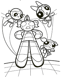 powerpuff girls coloring pages coloring for kids 12054