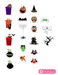 Halloween Stickers Free Printable Halloween Themed Planner Stickers
