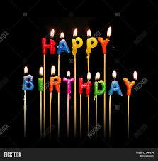 happy birthday candle happy birthday candles image photo bigstock