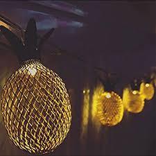 10 mini light string amazon com metal mesh 10 mini pineapple string light linpote
