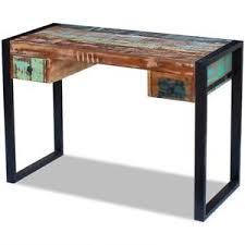 table bureau bois vidaxl bureau bois de récupération massif table de travail table d