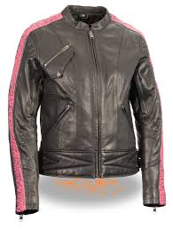 ladies motorcycle jacket ladies black lightweight goatskin leather biker jacket w pink