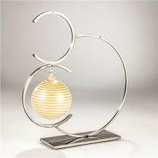circle ornament display steel three ornaments