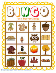 fall and harvest class bingo free printable fall bingo