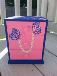 Girls Personalized Jewelry Box White Jewelry Box Girls Jewelry Box By Niftyandthriftyfinds