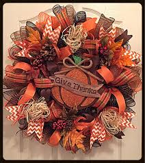 fall give thanks deco mesh wreath thanksgiving wreath autumn