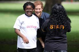 Prince Harry by Prince Harry Plays Sports With London Kids