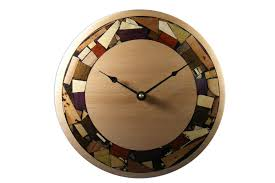home decor wall clocks modern mosaic clock mosaic rimmed clock wooden wall clock