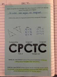 Cpctc Worksheet Answers Misscalcul8 Geometry Unit 5 Congruent Triangles Notebook