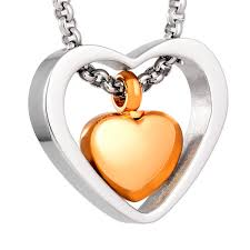 cheap cremation jewelry stainless steel heart cremation pendant urn jewelry holds pet