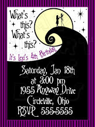 Nightmare Before Christmas Wedding Invitations Invitations U0026 Party Fun Page 2 My Heart Has Ears