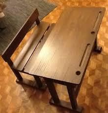 bureau ecolier en bois bureau enfant écolier pupitre banc séparé bois marque am