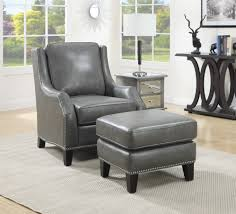 Leather Chairs Office Ottomans Oversized Chair With Ottoman Leather Accent Chair And