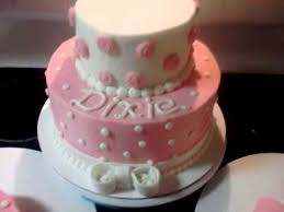 girls first birthday cake youtube