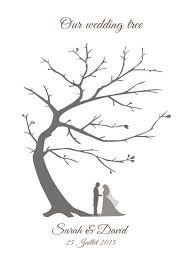 wedding tree guest book 2018 customized vintage wedding fingerprint tree guestbook