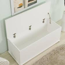 White Storage Bench Wooden Storage Bench Cabinet Furniture Maxi