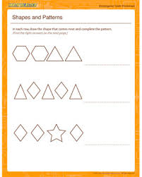 patterns in kindergarten shapes and patterns kindergarten math worksheet printables