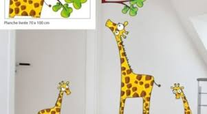 stickers girafe chambre bébé sticker girafe grand stickers muraux décoration chambre enfant in