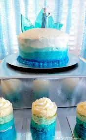 frozen birthday cake ombre frosting sisters crafting