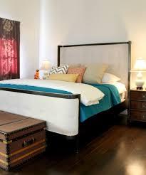 Teal White Purple And Orange In Hollywood Regency Style Bedroom - Regency style interior design