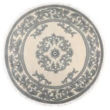 home decorators area rugs home decorators collection jackson blue ivory 8 ft x 8 ft round