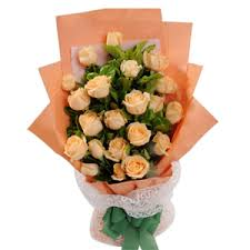 Peach Roses 24 Peach Rose Bouquet To Cebu Express Two Dozen Peach Rose Bouquet