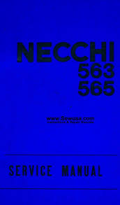 necchi sewing machine service manuals