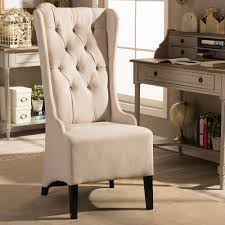accent chair for living room baxton studio vincent beige fabric upholstered accent chair 28862