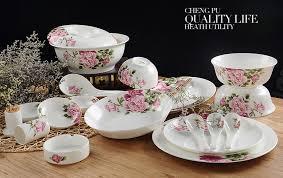 58pcs lot real bone china dinner set japanese utensils bento box