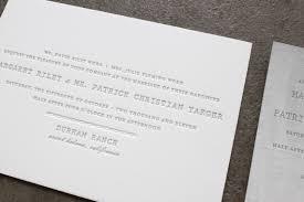 letterpress stationery margaret s understated letterpress wedding invitations