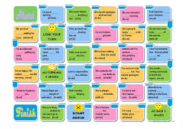 prepositions board game easy and advanced versions worksheet