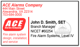 Us Government Business Cards Certification Mark And Logo Use Nicet Main