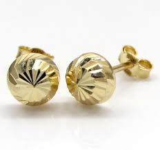 10k gold earrings and studs for men and ladies