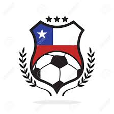 Flag Football Play Designer Chile National Flag Football Crest A Logo Type Illustration