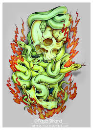 skulls and snakes by hatefueled on deviantart
