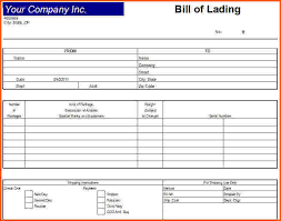 Bill Of Lading Template Excel Blank Bill Of Lading 10 Sle Bill Of Lading Sle Bill Of