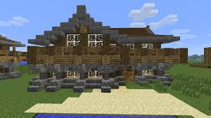 minecraft how to build a large medieval rustic log cabin house 3