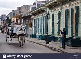 french quarter new orleans louisiana mule drawn carriage
