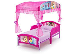 Toddler Bed With Canopy Delta Children Canopy Toddler Bed Disney Princess Baby