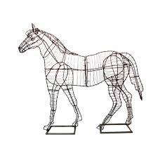 Horse Topiary Green Piece Wire Art Topiary