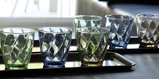 bicchieri verdi set di bicchieri calici e caraffe in vetro e cristallo tognana