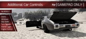 modded cars engine additional car controls gamepad only gta5 mods com