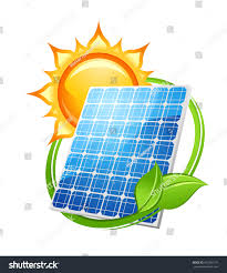 solar panels clipart solar energy power concept save environment stock illustration