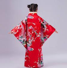 novelty red japanese baby kimono dress children yukata gown