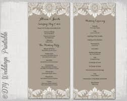 christian wedding program template lace wedding program template antique lace diy