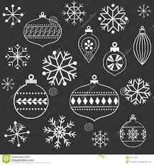 chalkboard snowflakes and ornaments stock vector image 47011998
