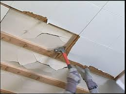 How To Put Up Tin Ceiling Tiles by How To Replace Ceiling Tiles With Drywall How Tos Diy