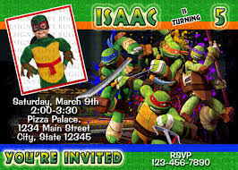 Make Birthday Invitation Cards Online For Free Printable Ninja Turtle Invitation Tmnt Invitations Ninja Party Ninja