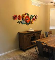 paper flowers dining room wall decor jewel toned paper flowers